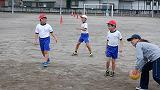 体育の交流ドッチボール
