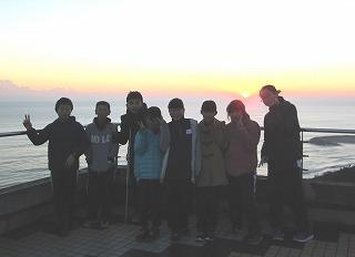 太平洋からの日の出