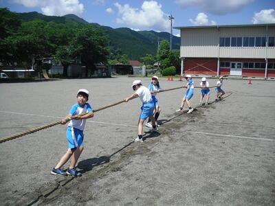 綱引きの練習