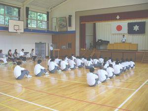 学校長式辞